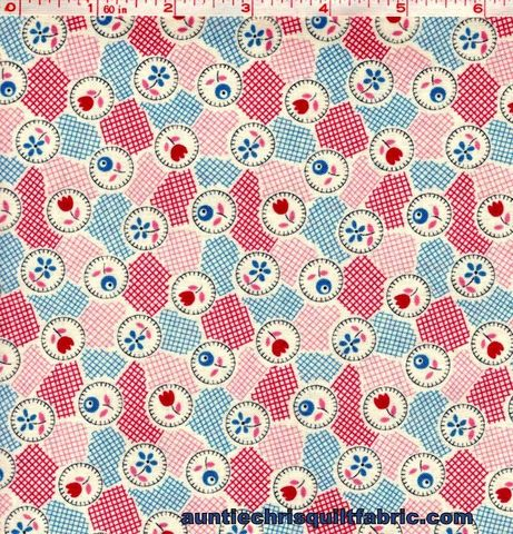 Cotton,Quilt,Fabric,Lazy,Days,Floral,Patchwork,Ivory/Blue,Kaye,England,,quilt backing, dresses, quilt fabric,cotton material,auntie chris quilt,sewing,crafts,quilting,online fabric,sale fabric
