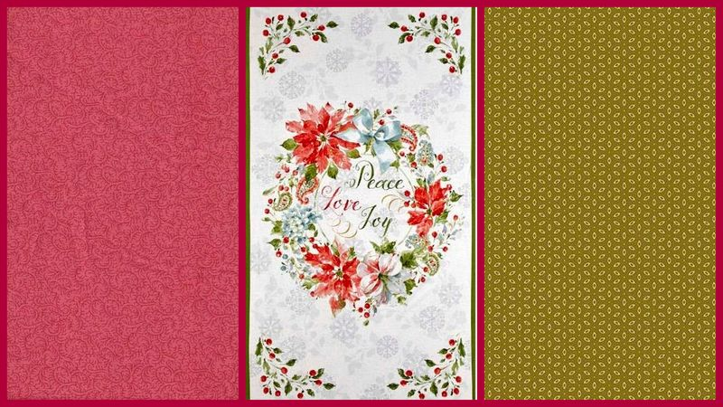 Easy Fabric Panel Quilt Kit Magic of the Season Christmas Wall Quilt - product images  of