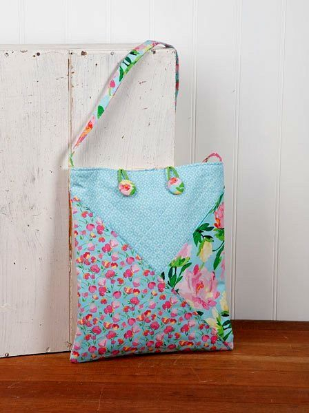 "A.J. Pretty Rose Floral Fabric Bag Kit Loft Creations 11"" x 13"" - product images  of"