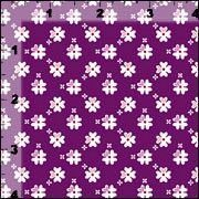 Cotton Quilt Fabric Flowers Petite Shamrock Purple White Floral - product images  of