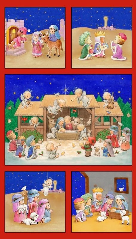 Easy Panel Plus Kit The Little King Cotton Fabric Nativity Christmas - product images  of