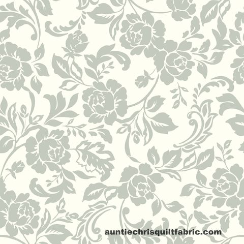 Cotton,Quilt,Fabric,Stitch,&,Sparkle,Dark,Romance,Rose,Floral,Silver,White,Gray,,quilt backing, dresses, quilt fabric,cotton material,auntie chris quilt,sewing,crafts,quilting,online fabric,sale fabric