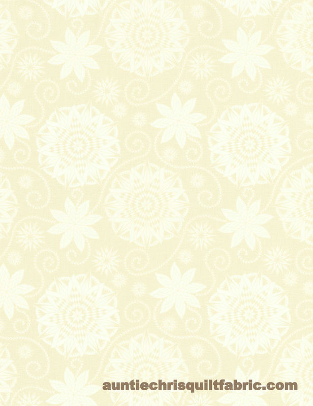 Cotton Quilt Fabric BOHEMIAN BLUES Quilterly Medallions Medium Taupe *Cut yards* - product images  of