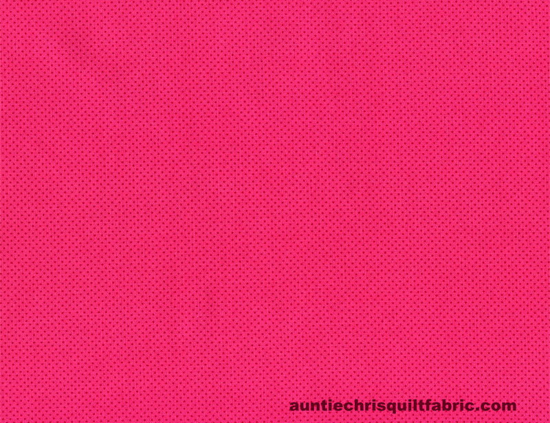 Cotton Quilt Fabric Basic Pin Dots Lipstick Hot Pink Tone On Tone - product images  of