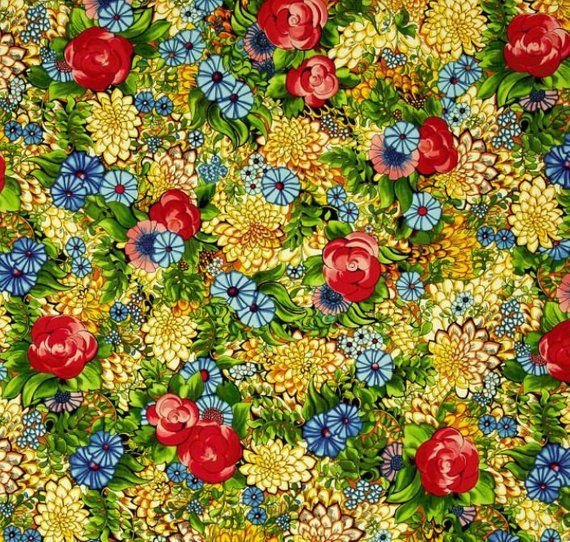 Cotton Quilt Fabric Ink & Arrow Ellery Large Floral Multi - product images  of