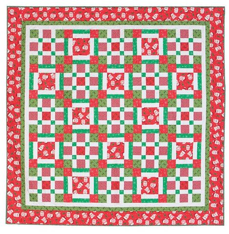 Easy,Holly,Jolly,Christmas,Party,Plaid,Quilt,Kit,76,Square,,quilt backing, dresses, quilt fabric,cotton material,auntie chris quilt,sewing,crafts,quilting,online fabric,sale fabric
