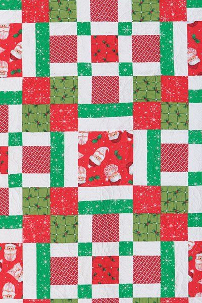 "Easy Holly Jolly Christmas Party Plaid Quilt Kit 76"" Square - product images  of"