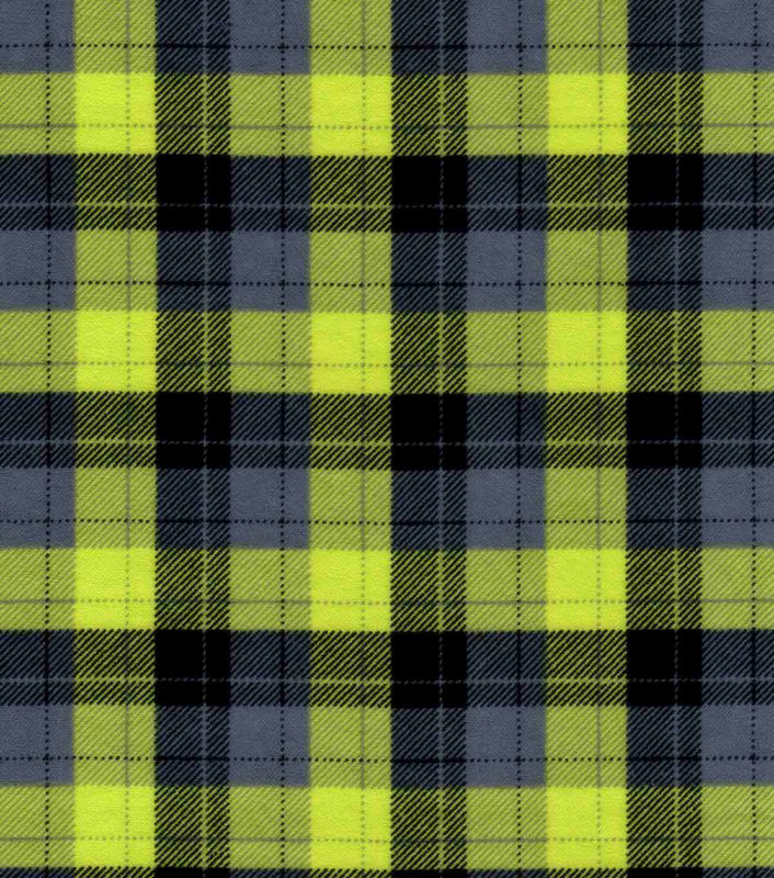 Cotton Quilt Fabric Flannel Skylar Green Black Plaid  - product images  of