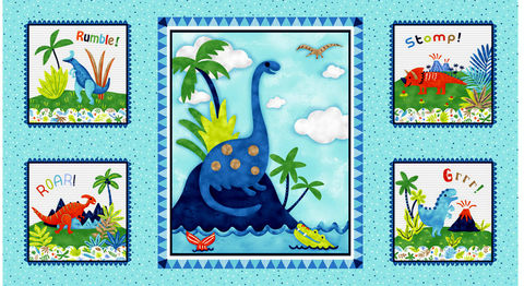 Easy,Panel,Plus,Kit,Hear,Me,Roar!,Dinosaurs,Backing,Instructions,,quilt backing, dresses, quilt fabric,cotton material,auntie chris quilt,sewing,crafts,quilting,online fabric,sale fabric