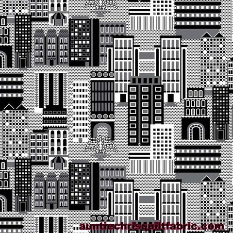 Cotton,Quilt,Fabric,Super,Hero,Cityscape,Graphic,Black,White,Gray,,quilt backing, dresses, quilt fabric,cotton material,auntie chris quilt,sewing,crafts,quilting,online fabric,sale fabric