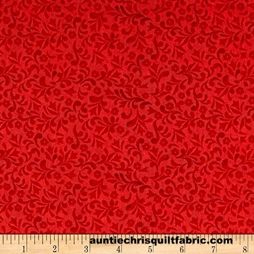 Cotton Quilt Fabric Jim Shore Patriotic Swirls Red  - product images  of