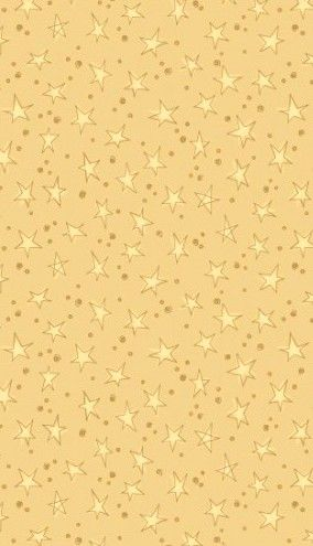 Cotton Quilt Fabric Christmas Believe Stars & Dots Cream Gold Fabric - product images  of