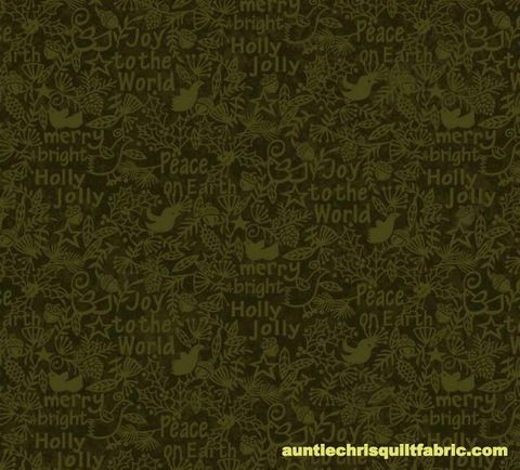 Cotton,Quilt,Fabric,Christmas,Believe,Tonal,Peace,Joy,Merry,Words,Forest,Green,,quilt backing, dresses, quilt fabric,cotton material,auntie chris quilt,sewing,crafts,quilting,online fabric,sale fabric