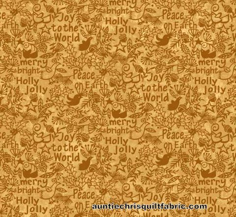 Cotton,Quilt,Fabric,Christmas,Believe,Tonal,Peace,Joy,Merry,Words,Tan,Gold,,quilt backing, dresses, quilt fabric,cotton material,auntie chris quilt,sewing,crafts,quilting,online fabric,sale fabric