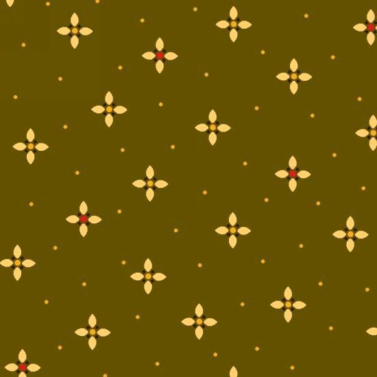 Cotton Quilt Fabric Farmstead Harvest Geometric Petal Kim Diehl Green Multi - product images  of