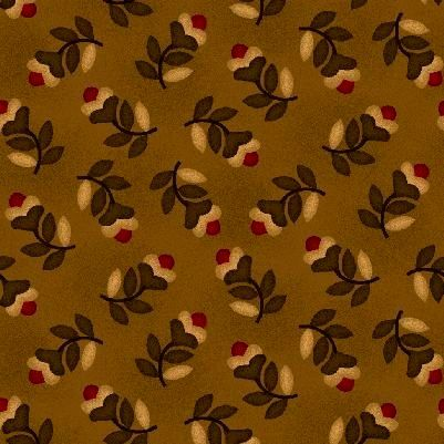 Cotton Quilt Fabric Farmstead Tossed Floral Stem Kim Diehl   - product images  of