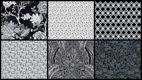 Cotton,Quilt,Fabric,3Yd,Starlight,Garden,Black,White,Medley,,quilt backing, dresses, quilt fabric,cotton material,auntie chris quilt,sewing,crafts,quilting,online fabric,sale fabric