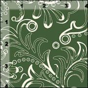 Cotton Quilt Fabric Ornamental Fern Sage Green Floral - product images  of