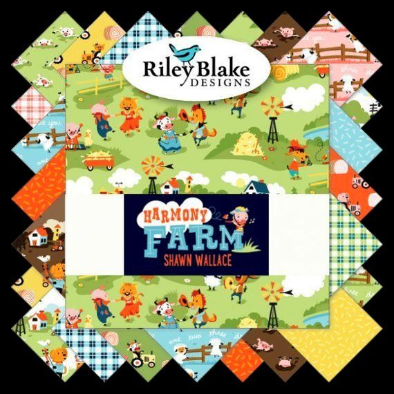 Cotton Quilt Fabric Harmony Farm Brown Hog Wash Riley Blake Designs - product images  of