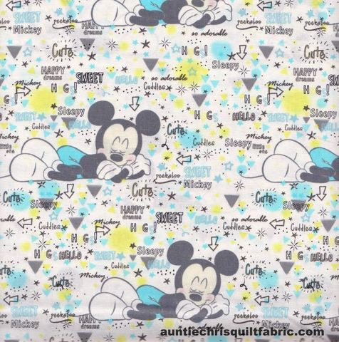 Cotton,Quilt,Fabric,Disney,Mickey,Nursery,Peekaboo,White,Multi,,quilt backing, dresses, quilt fabric,cotton material,auntie chris quilt,sewing,crafts,quilting,online fabric,sale fabric