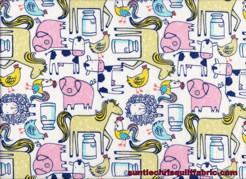 Cotton,Quilt,Fabric,Dear,Stella,Barnstorm,Barn,Animals,Modern,Farm,,quilt backing, dresses, quilt fabric,cotton material,auntie chris quilt,sewing,crafts,quilting,online fabric,sale fabric