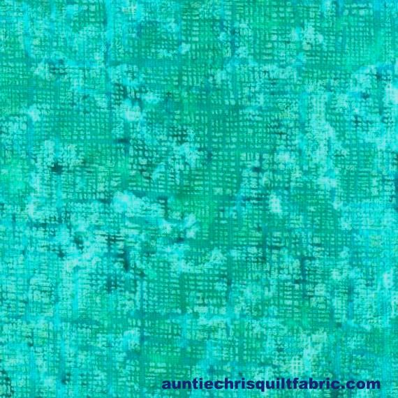 Cotton Quilt Fabric Pearl Grid Textured Blender Bright Teal Blue - product images  of
