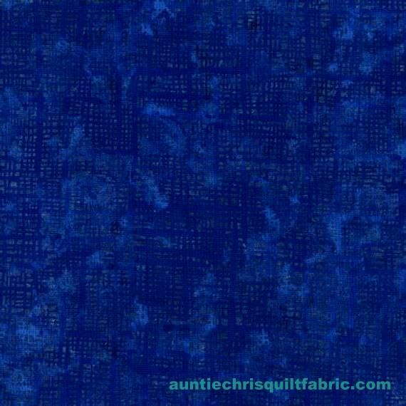 Cotton Quilt Fabric Pearl Grid Textured Blender Dark Blue - product images  of