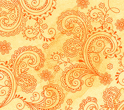 Cotton Quilt Fabric Soiree Floral Etchings Golden Quilting Treasures - product images  of