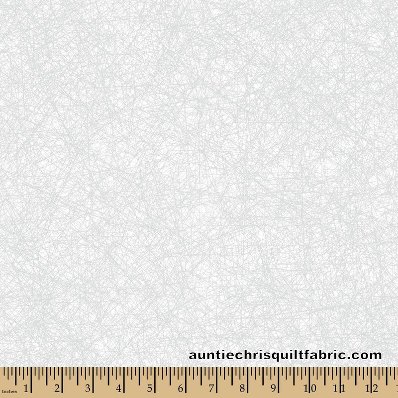 Cotton Quilt Fabric Patrick Lose Tangled Silver Metallic White - product images  of