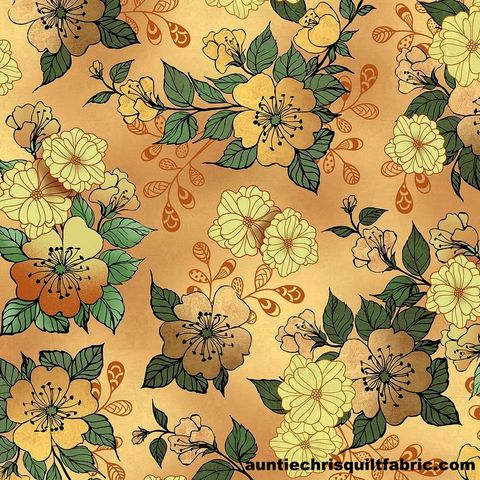 Cotton,Quilt,Fabric,Manor,House,Large,Floral,Taupe,Multi,26396,,quilt backing, dresses, quilt fabric,cotton material,auntie chris quilt,sewing,crafts,quilting,online fabric,sale fabric