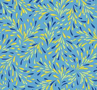 Cotton Quilt Fabric Little Squirt Spray Blue Multi 1649-26450-B - product images  of