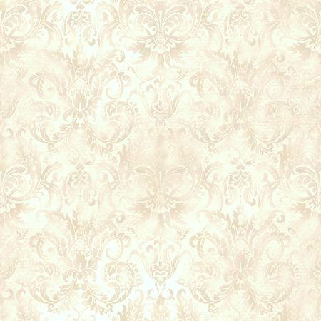 Cotton Quilt Fabric Aged To Perfection Softened Damask Creme  - product images  of