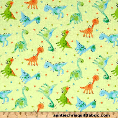 Cotton,Quilt,Fabric,Dino-Mite,Baby,Dinos,Pale,Green,Pastel,Kids,Babies,,quilt backing, dresses, quilt fabric,cotton material,auntie chris quilt,sewing,crafts,quilting,online fabric,sale fabric