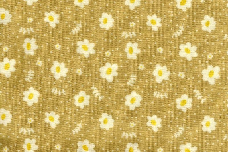 Cotton Quilt Fabric Emma And Myrtle Floral Apron Natural Tan - product images  of