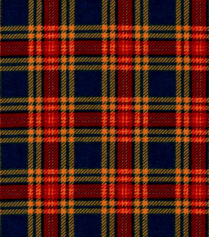 Cotton Quilt Fabric Flannel Hadley Navy & Red Plaid - product image