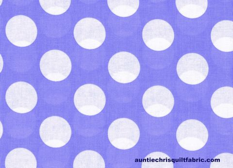 Cotton,Quilt,Fabric,Periwinkle,Blue,White,Bigger,Dot,Polka,Dots,1,1/2,dot,,quilt backing, dresses, quilt fabric,cotton material,auntie chris quilt,sewing,crafts,quilting,online fabric,sale fabric