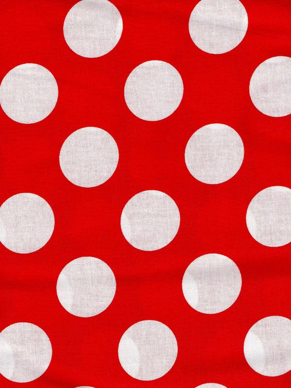 "Cotton Quilt Fabric Red White Bigger Dot Polka Dots 1 1/2"" dot - product images  of"