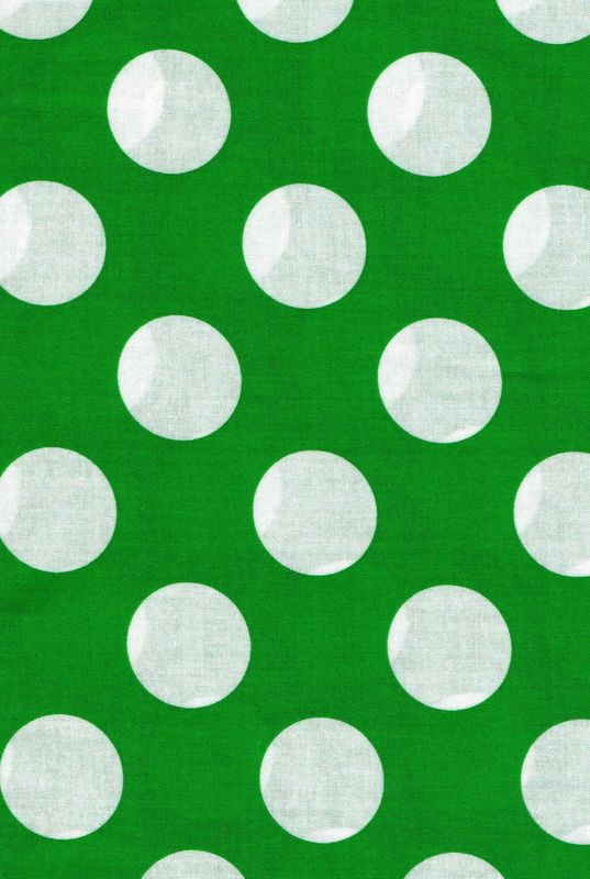 "Cotton Quilt Fabric Kelley Green White Bigger Dot Polka Dots 1 1/2"" dot - product images  of"