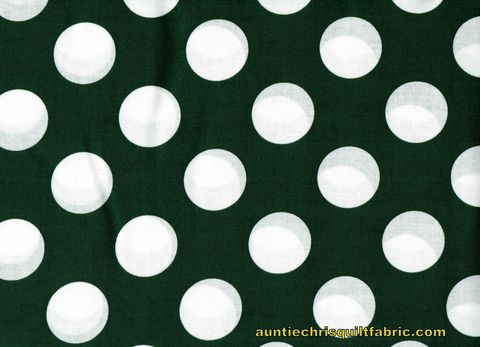 Cotton,Quilt,Fabric,Forest,Green,White,Bigger,Dot,Polka,Dots,1,1/2,dot,,quilt backing, dresses, quilt fabric,cotton material,auntie chris quilt,sewing,crafts,quilting,online fabric,sale fabric