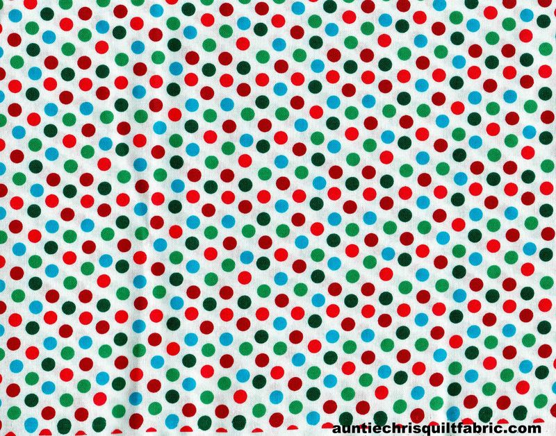 Cotton Quilt Fabric Wrapping Paper White Multi Polka Dots - product images  of