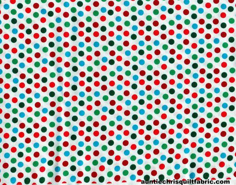 Cotton,Quilt,Fabric,Wrapping,Paper,White,Multi,Polka,Dots,,quilt backing, dresses, quilt fabric,cotton material,auntie chris quilt,sewing,crafts,quilting,online fabric,sale fabric