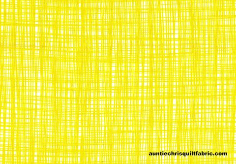 Cotton,Quilt,Fabric,Sketched,Lines,Bright,Lemonade,Yellow,,quilt backing, dresses, quilt fabric,cotton material,auntie chris quilt,sewing,crafts,quilting,online fabric,sale fabric