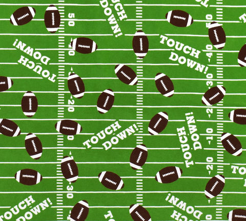 Cotton,Quilt,Fabric,Flannel,Touchdown,Footballs,Sports,,quilt backing, dresses, quilt fabric,cotton material,auntie chris quilt,sewing,crafts,quilting,online fabric,sale fabric