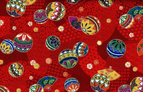 Cotton,Quilt,Fabric,Dancing,Fans,And,Temari,Red,Gold,Metallic,Cut,Yards,,quilt backing, dresses, quilt fabric,cotton material,auntie chris quilt,sewing,crafts,quilting,online fabric,sale fabric