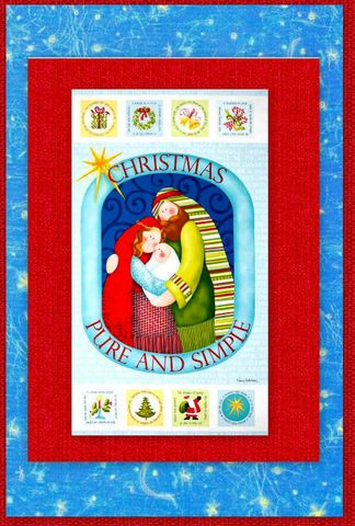 Easy,Pure,And,Simple,Nativity,Christmas,Panel,Quilt,Kit,Beginners,quilt fabric,cotton material,auntie chris quilt,sewing,crafts,quilting,online fabric,sale fabric