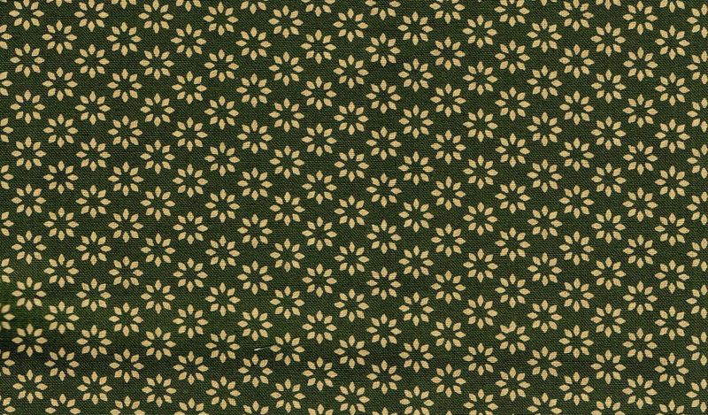 Cotton Quilt Fabric Omoshiro Olive Green Tan Floral Cut Yards - product image