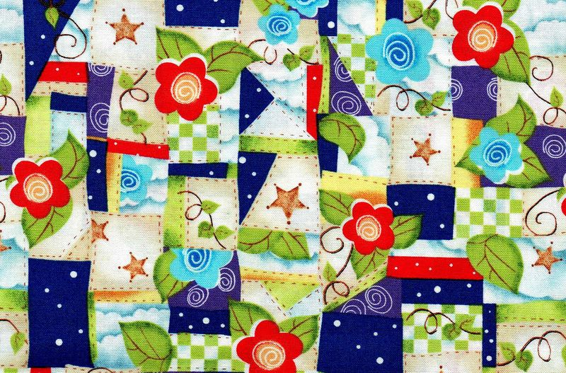 Good Buy Cotton Quilt Fabric Friendship Patchwork Floral Patch - product image