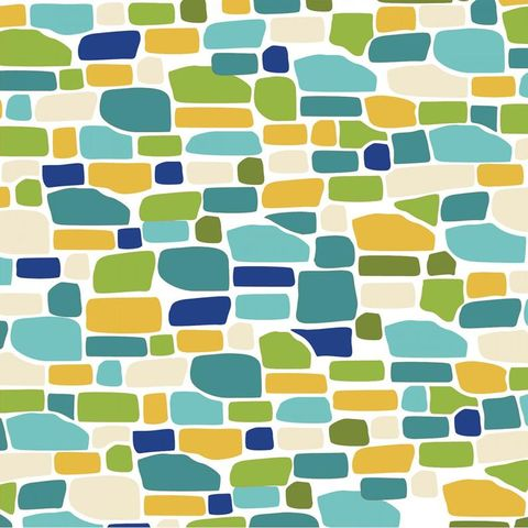 Cotton,Quilt,Fabric,Ain't,Life,a,Hoot,White,Blue,Green,Bricks,Modern,,quilt backing, dresses, quilt fabric,cotton material,auntie chris quilt,sewing,crafts,quilting,online fabric,sale fabric