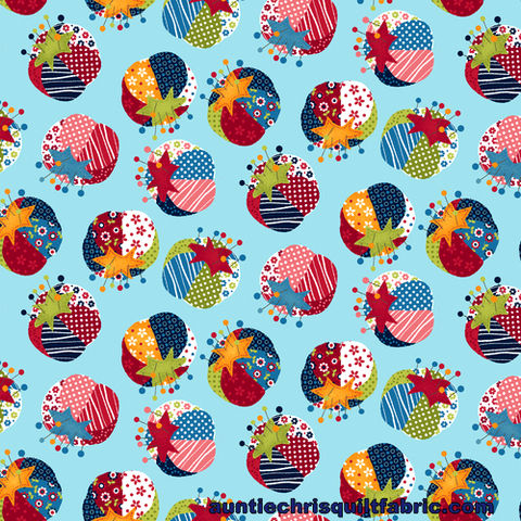 Cotton,Quilt,Fabric,Crafty,Studio,Pin,Cushion,Lt,Blue,Multi,,quilt backing, dresses, quilt fabric,cotton material,auntie chris quilt,sewing,crafts,quilting,online fabric,sale fabric