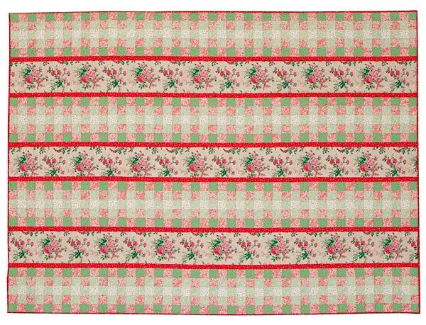 "Full of Grace Pink Green Strippy Quilt  Kit 67-1/2"" x 90-1/2"" - product images  of"